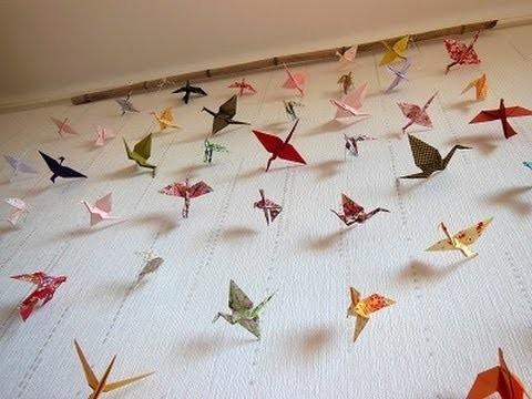 tuto guirlandes en origami origami for garland. Black Bedroom Furniture Sets. Home Design Ideas