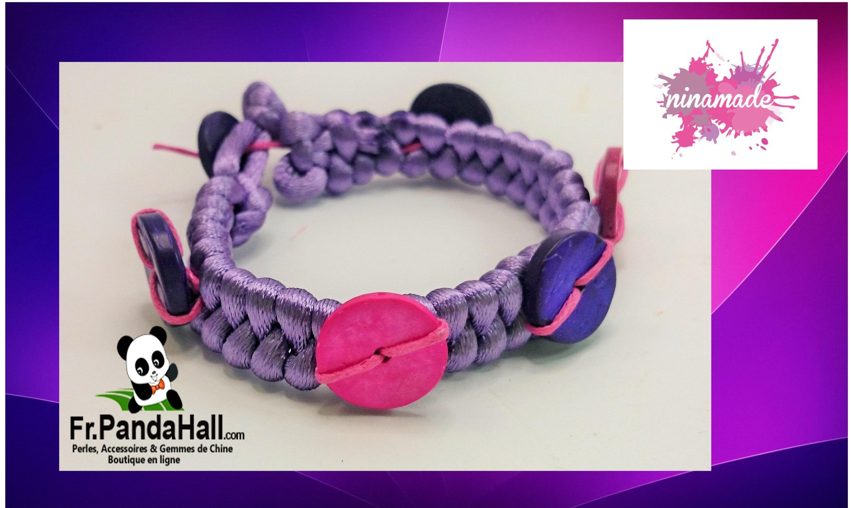 Tuto5.DIY.Bracelet avec des perles en noix de coco.Fr.Pandahall.com.