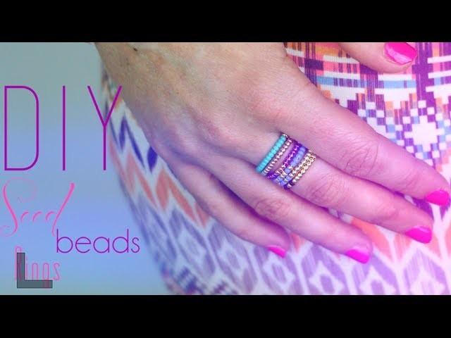 TUTORIEL - DIY : BAGUES EN PERLES DE ROCAILLES - Seed Beads ring (english subs)