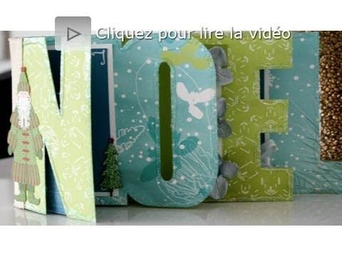 Atelier scrapbooking tutoriel mini album NOEL technique français