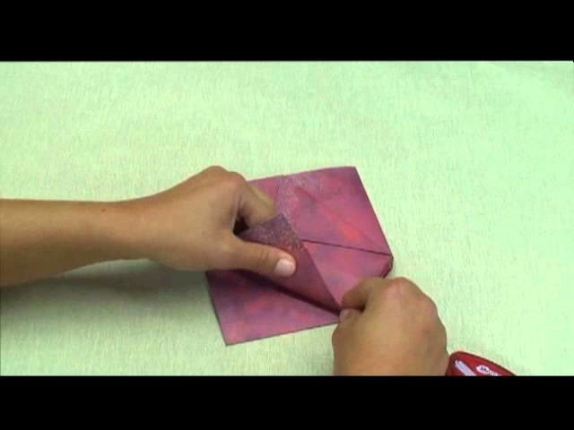 cache pot en origami. Black Bedroom Furniture Sets. Home Design Ideas