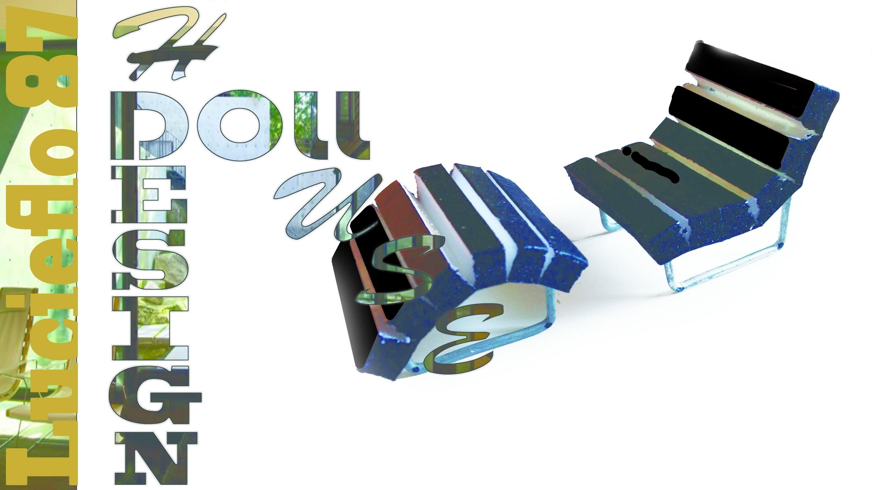 DIY, Doll house, creer un fauteuil ( armchair tutorial ) 02