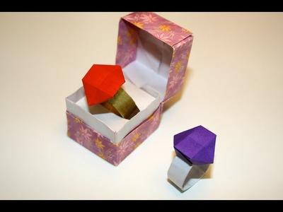 Origami - Bague avec pierre - Diamond Ring [Senbazuru]