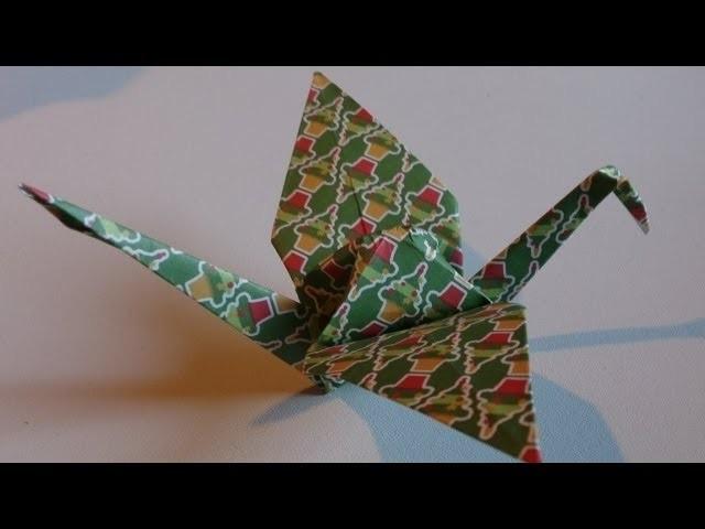 origami la grue traditionelle. Black Bedroom Furniture Sets. Home Design Ideas