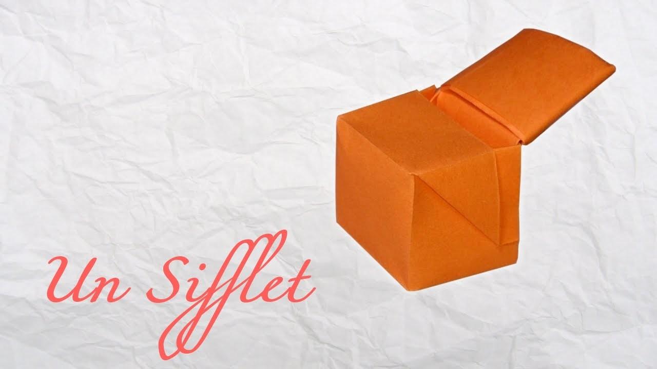 Origami ! Un sifflet qui siffle.