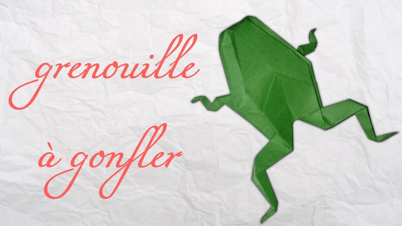 Origami ! Une grenouille à gonfler.