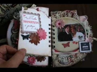 Scrapbooking : Mini-album de mariage pour mon amie Pascallle