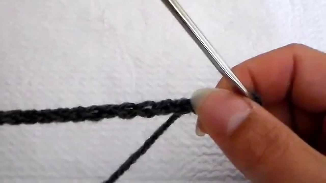 Technique de crochet : la chaînette