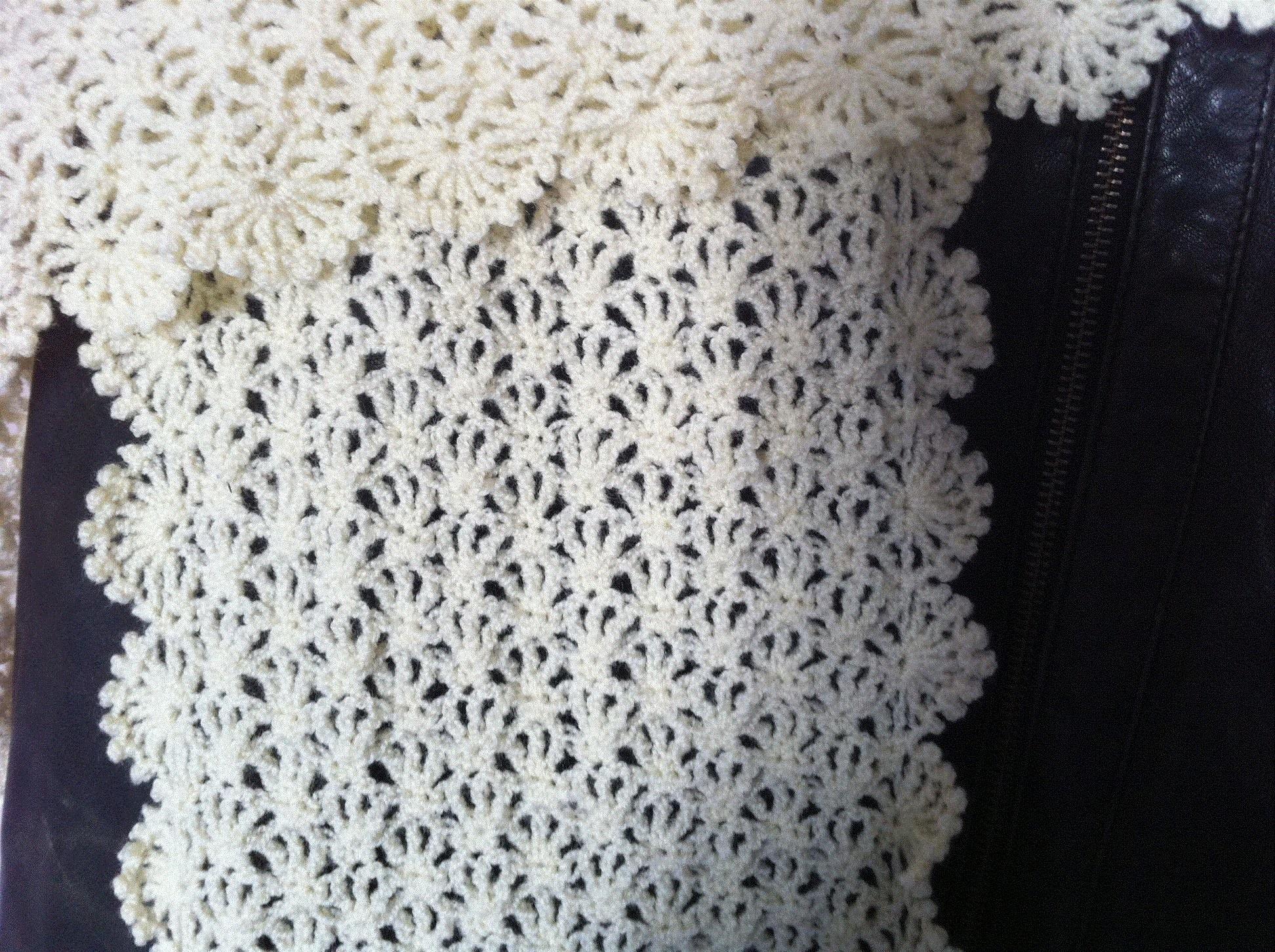 Tutoriel crochet   une écharpe ou étole façon dentelle pour l'été