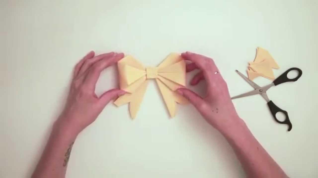 """Tuto Origami Facile :  """"Le Nœud"""""""