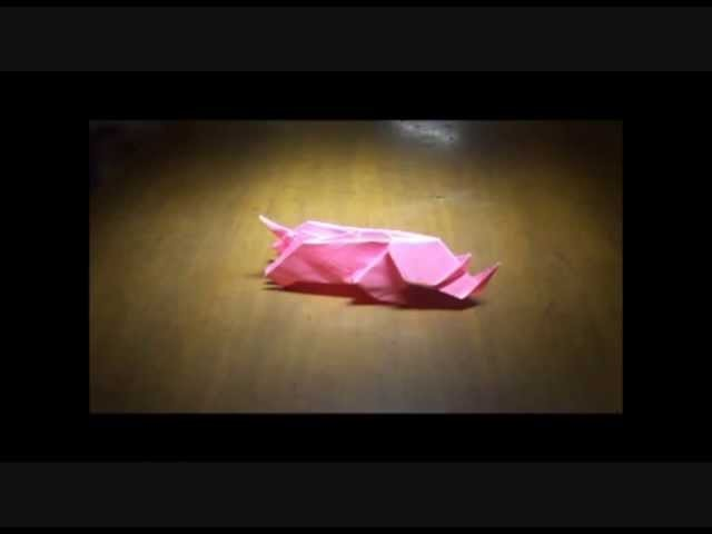 "Origami rhinocéros by Christophe Guénot ""Origamisix"" (SixIDD)"