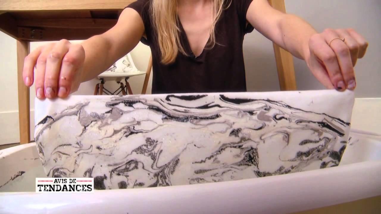 DIY ton motif marbré