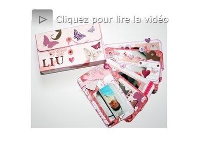 Atelier scrapbooking tutoriel mini album boîte technique français