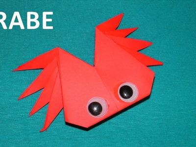 Origami : comment faire un crabe en papier plié. Vidéo éducative.