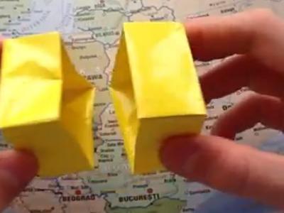 Faire une boîte en papier - Fabriquer une boîte en orgiami - Astuce Origami - Boîte en carton