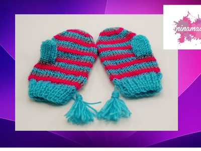 DIY. Comment tricoter des moufles.