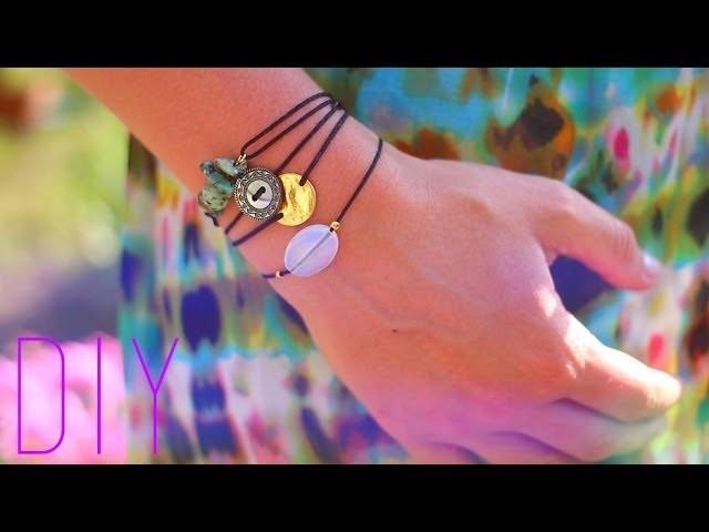 DIY - TUTO : 3 BRACELETS D'ETE NOEUD COULISSANT - Sliding knot bracelet (english subs)