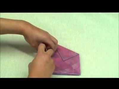 Réaliser un cache pot en origami