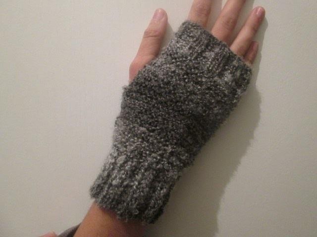 Tuto tricot apprendre a tricoter des mitaines gants super facile point mousse et cotes - Apprendre a tricoter gratuitement ...