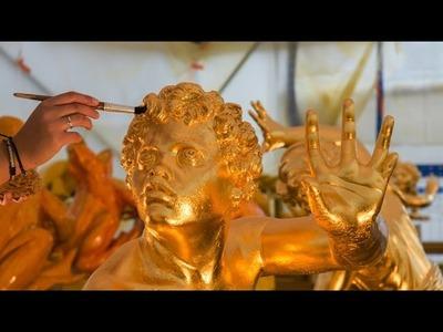 Dorure des sculptures du bassin de Latone