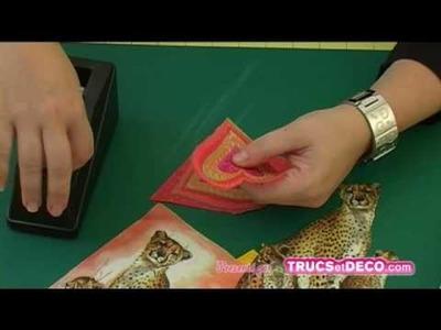 Séparer les plis en serviettage