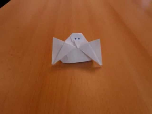 Origami du poussin dans son oeuf