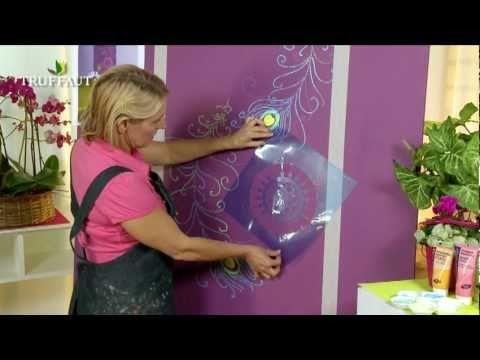DIY déco : peindre au pochoir une fresque murale