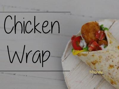 Le Wrap. Chicken Wrap (Tuto Fimo. Polymer Clay Tutorial)