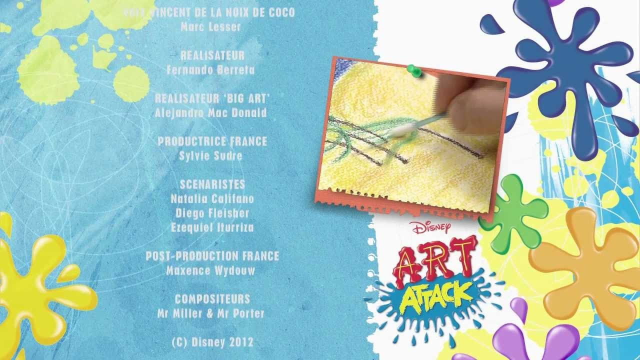 ART ATTACK - Décor 3D - Sur Disney Junior - VF