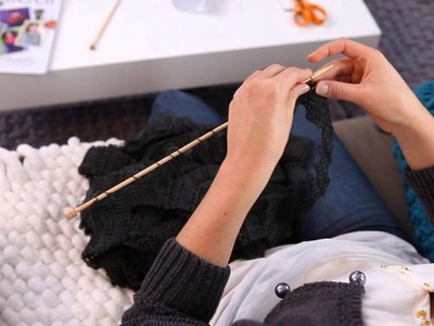 Tricoter un snood en fil Frivole - Phildar