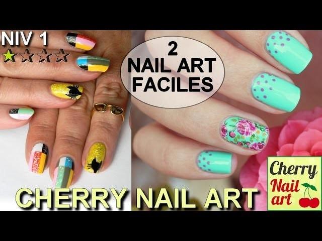 2 nail art faciles avec stickers