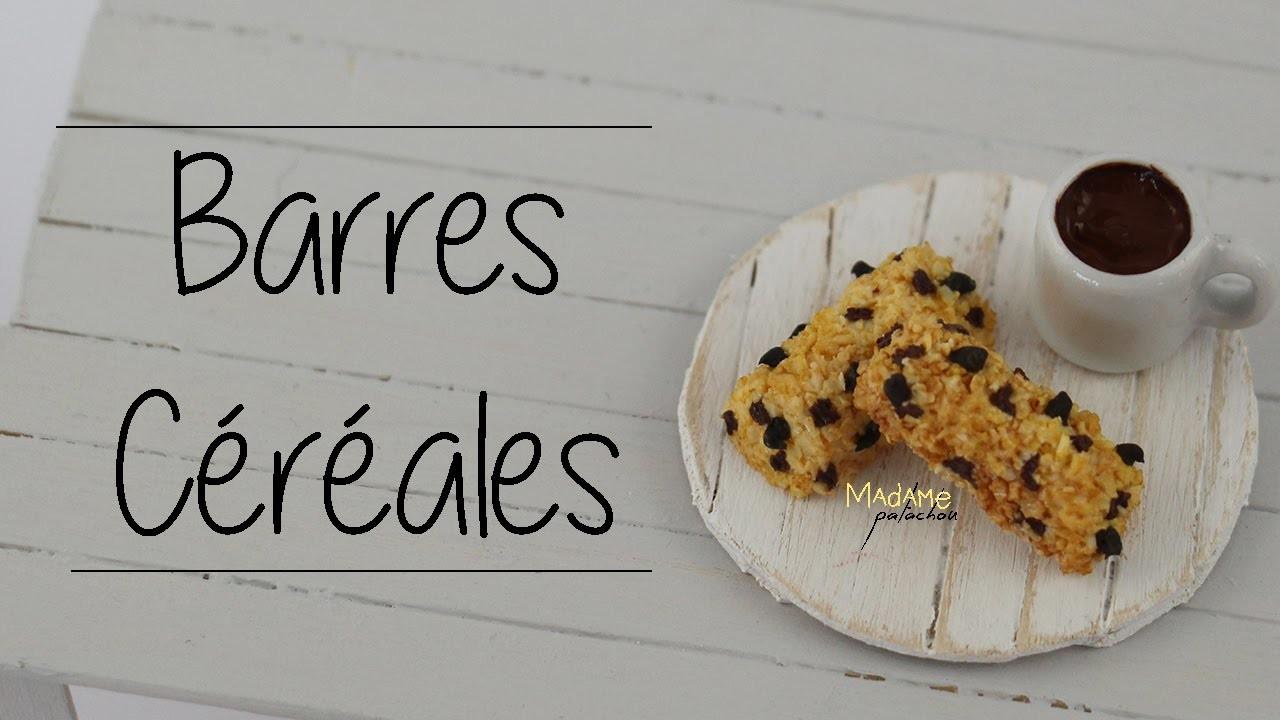 Barres Céréales. Cereal Bars (Tuto Fimo. Polymer Clay Tutorial)