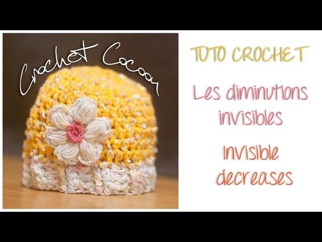 TUTO crochet : Les diminutions invisibles. Invisible decreases