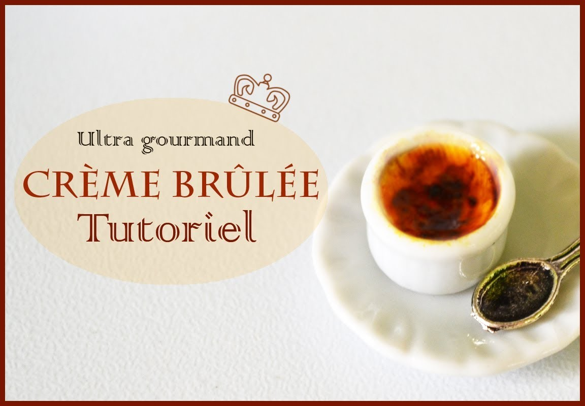 Crème brulée en pâte polymère. Tutorial Creme Brulee polymer clay