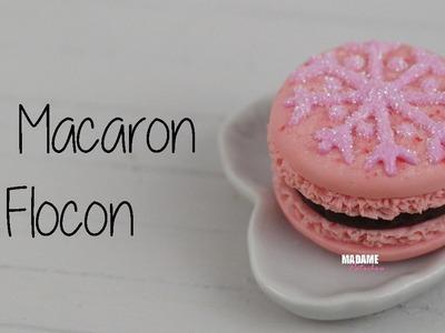 Macaron Flocon.French Macaroon (Tuto Fimo.polymer clay tutorial)