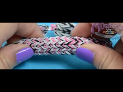 Tutoriel Monster Tail de Rainbow Loom : Bracelet large double face