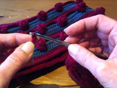 Tutoriel crochet : comment faire une écharpe tube avec des petites roses