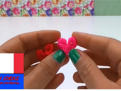 Loom Bands Coeurs en elastiques avec crochet – DIY Tutoriel en français