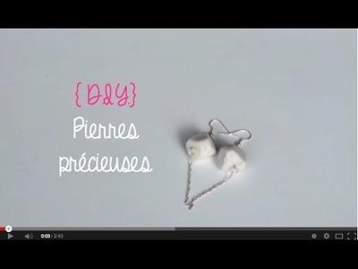 { D.I.Y. } - Pierres précieuses.Ears stones ( tutorial )