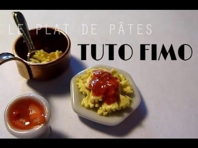 Tuto Fimo - Le plat de pâtes. polymer clay pasta