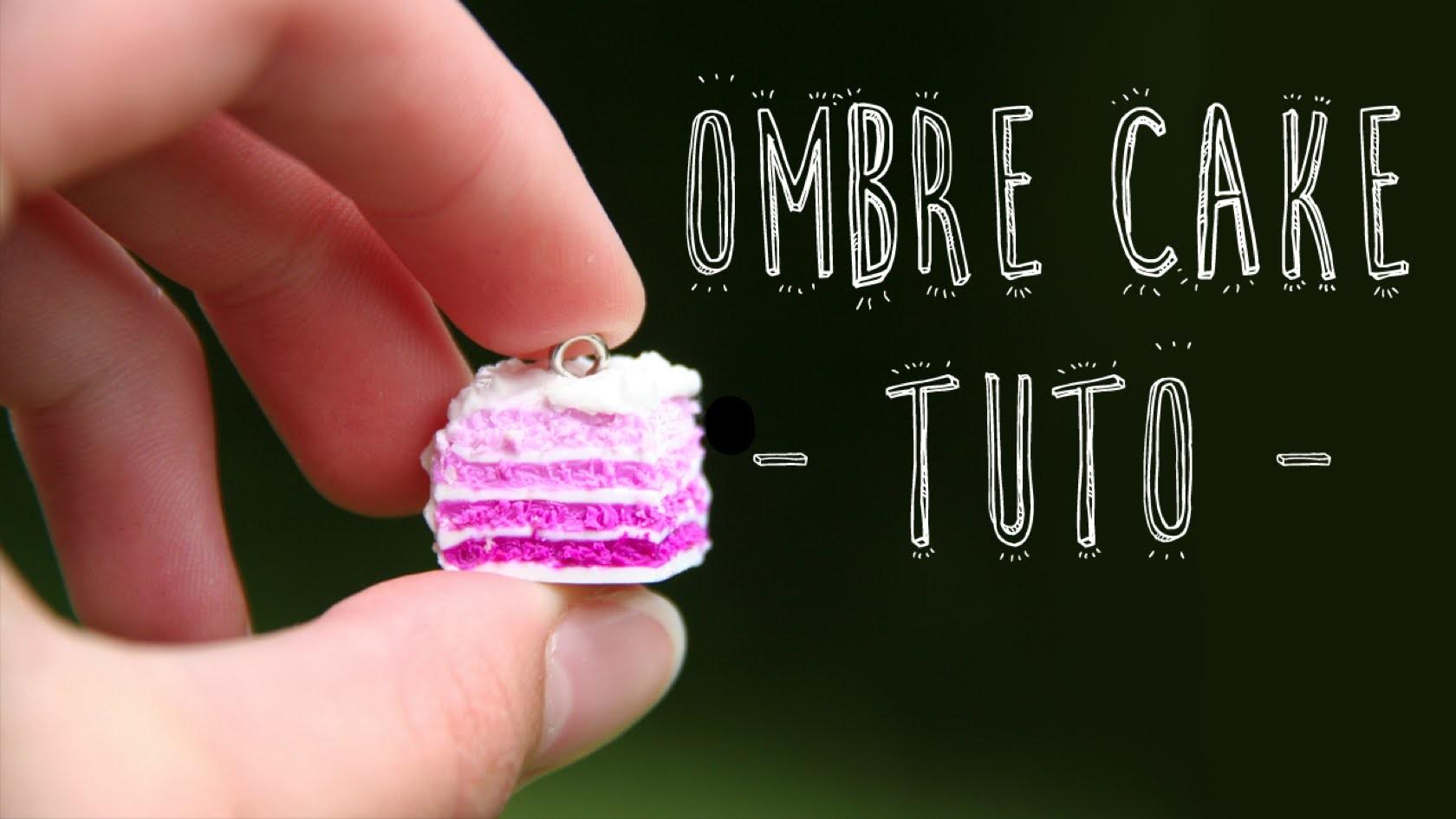 Tuto Fimo - Ombré cake | Polymer clay tutorial - Ombre cake
