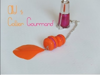 { D.I.Y. } - Collier Gourmand.Sweety Necklace ( polymer clay tutorial)