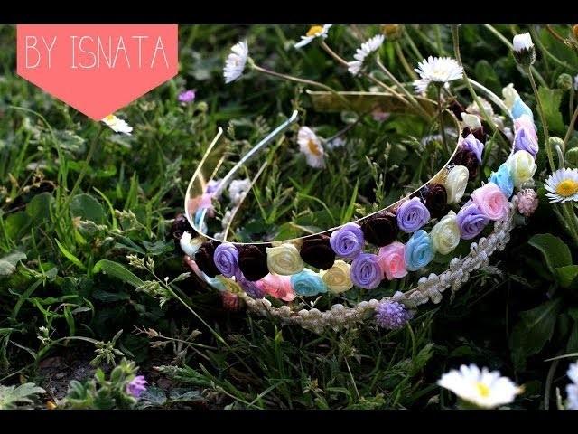 DIY : Couronne de fleurs & coque fleurie Serre-tête. Floral Crown & cell phone case (english subs)