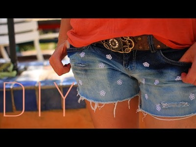 DIY : Short ombré (tie & dye). Bleached ombre shorts (english subs) customizer un short