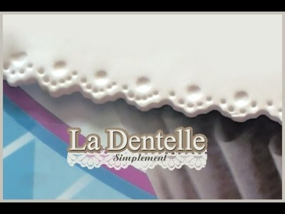 Effet dentelle.Lace Effect polymer clay
