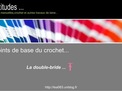 Le point de base au crochet : La double- bride ( tuto )