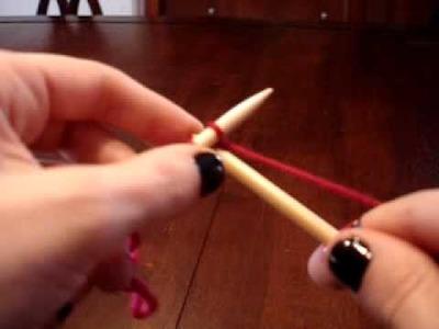 Leçon de tricot - Montage à l'anglaise