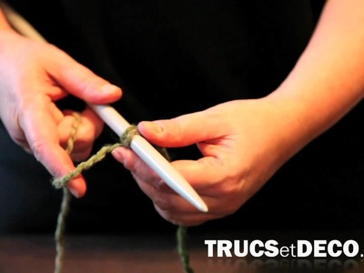 Monter des mailles en tricot - Tutoriel par trucsetdeco.com