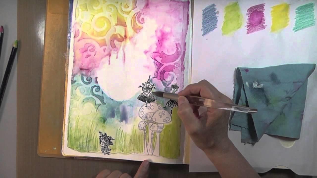 "OTF: page de journal d'artiste ""Be You"" Art Journal Page"