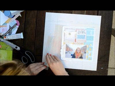 Scrapbooking Process: Page de scrapbooking - Shopping à Paris